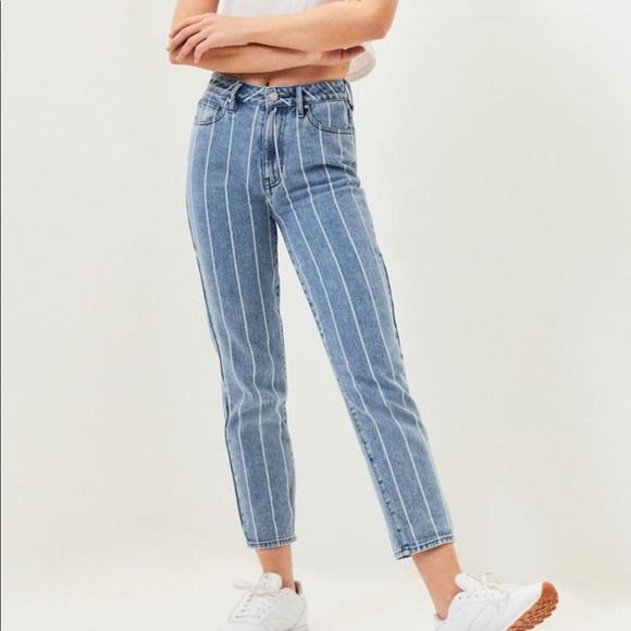 PacSun Denim - PacSun Striped Mom Jean